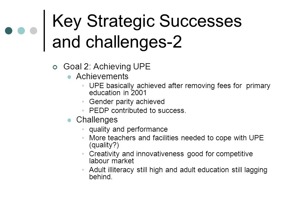 Key Strategic Successes and challenges-2