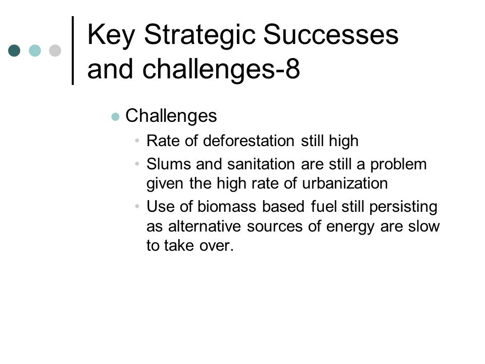 Key Strategic Successes and challenges-8