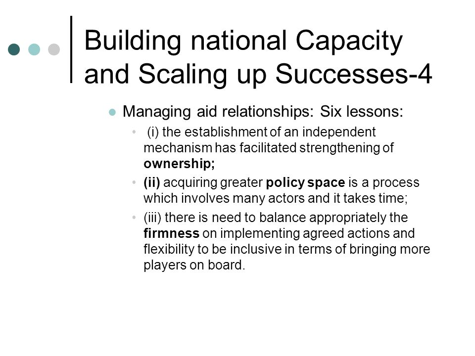 Building national Capacity and Scaling up Successes-4