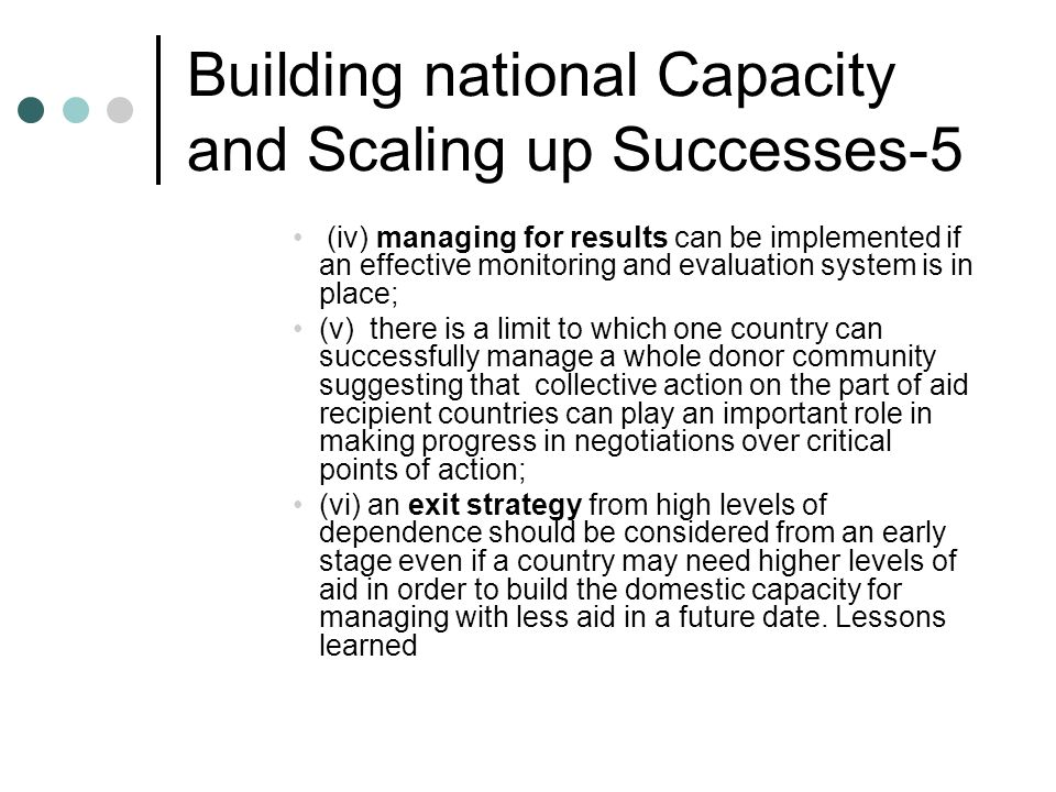 Building national Capacity and Scaling up Successes-5