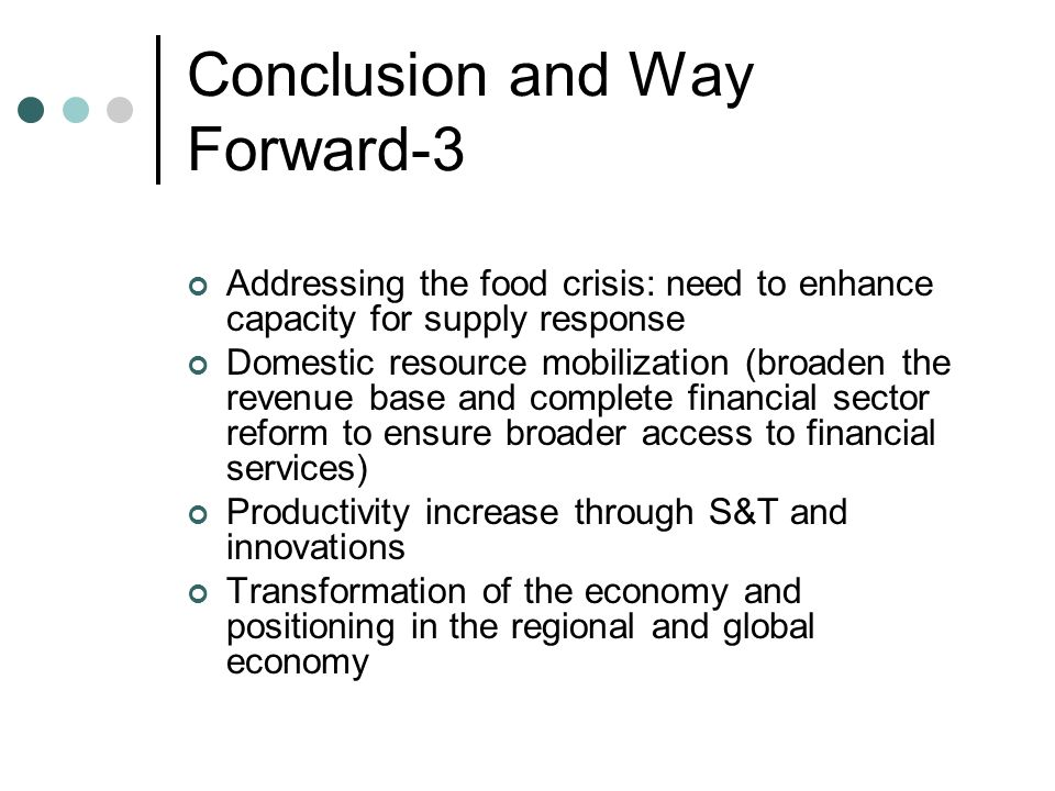 Conclusion and Way Forward-3