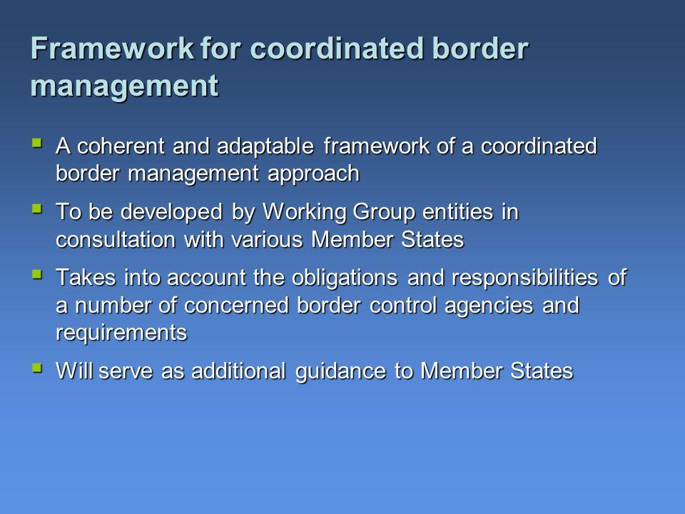Framework for coordinated border management