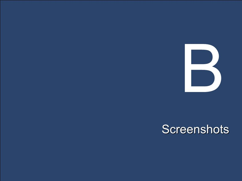 B Screenshots