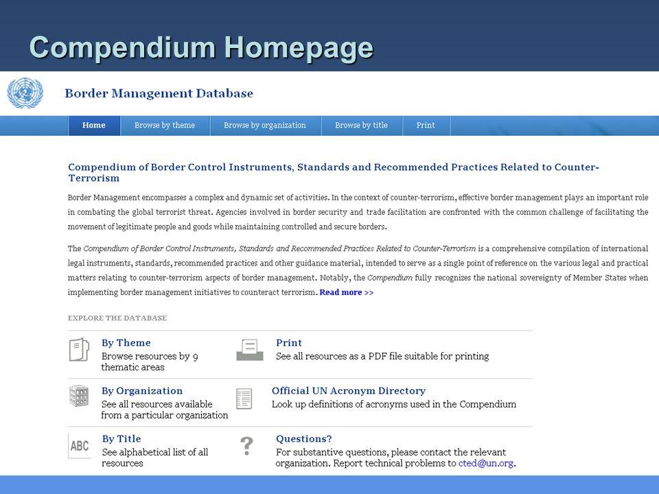 Compendium Homepage