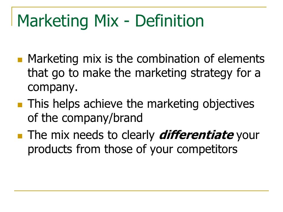 A Thorough Explanation of the Marketing Mix Strategy