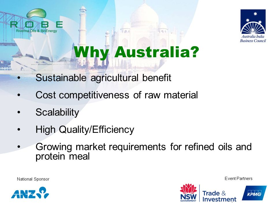 Why Australia Sustainable agricultural benefit