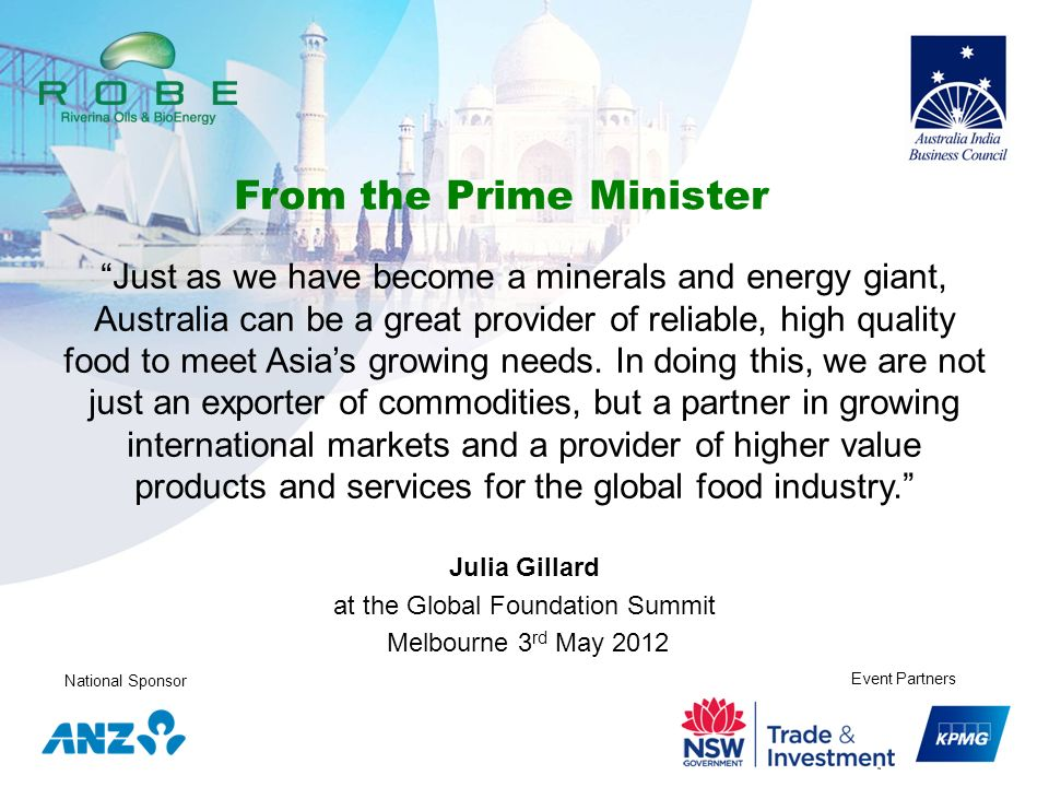 at the Global Foundation Summit