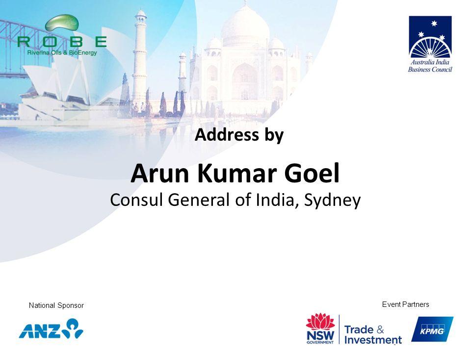 Arun Kumar Goel Consul General of India, Sydney