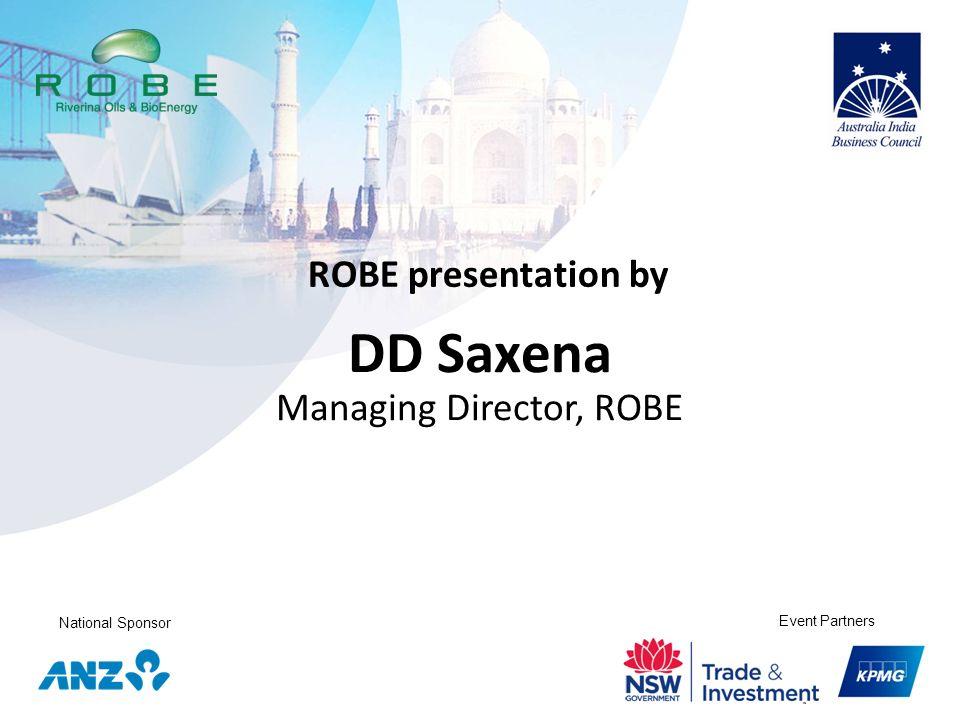DD Saxena Managing Director, ROBE