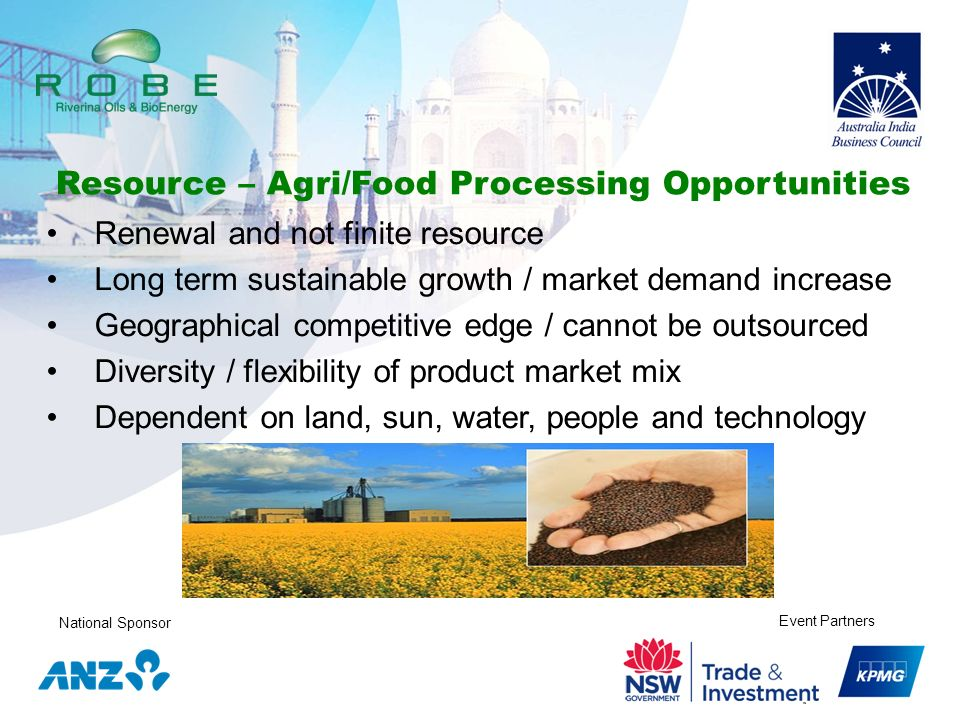 Resource – Agri/Food Processing Opportunities