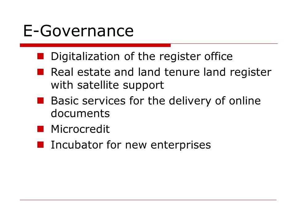 E-Governance Digitalization of the register office
