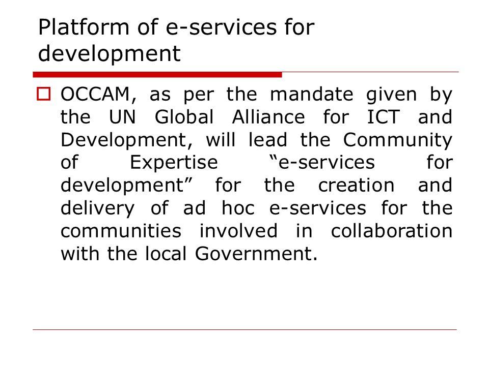 Platform of e-services for development