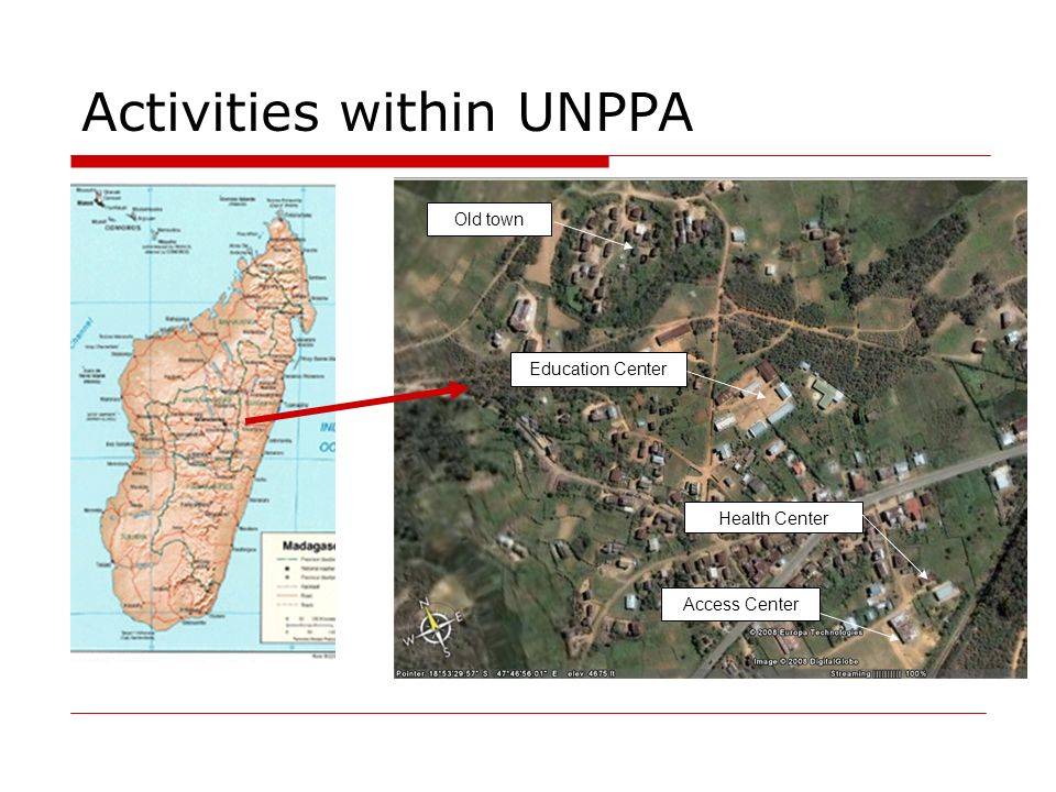 Activities within UNPPA