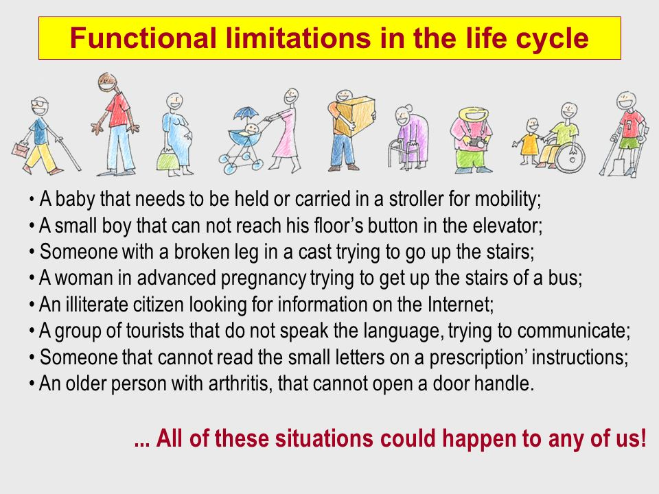 Functional limitations in the life cycle