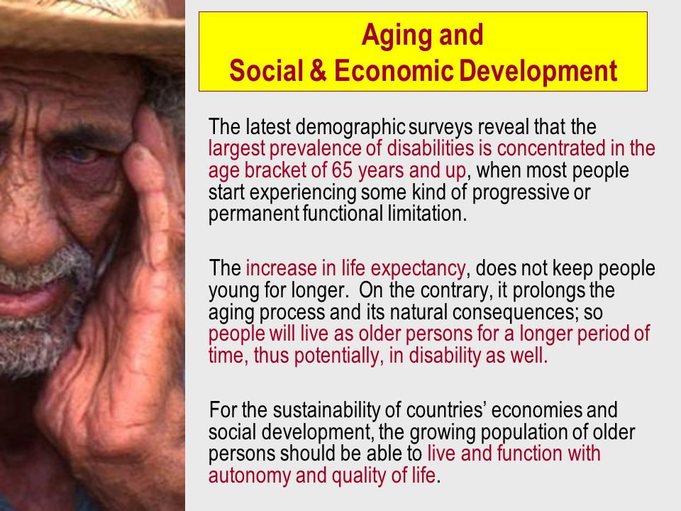 Aging and Social & Economic Development