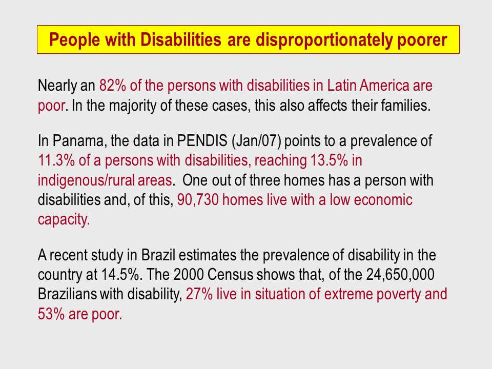 People with Disabilities are disproportionately poorer