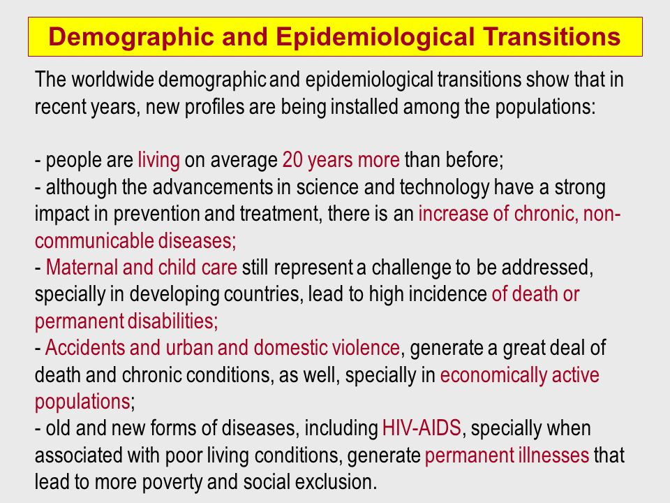 Demographic and Epidemiological Transitions