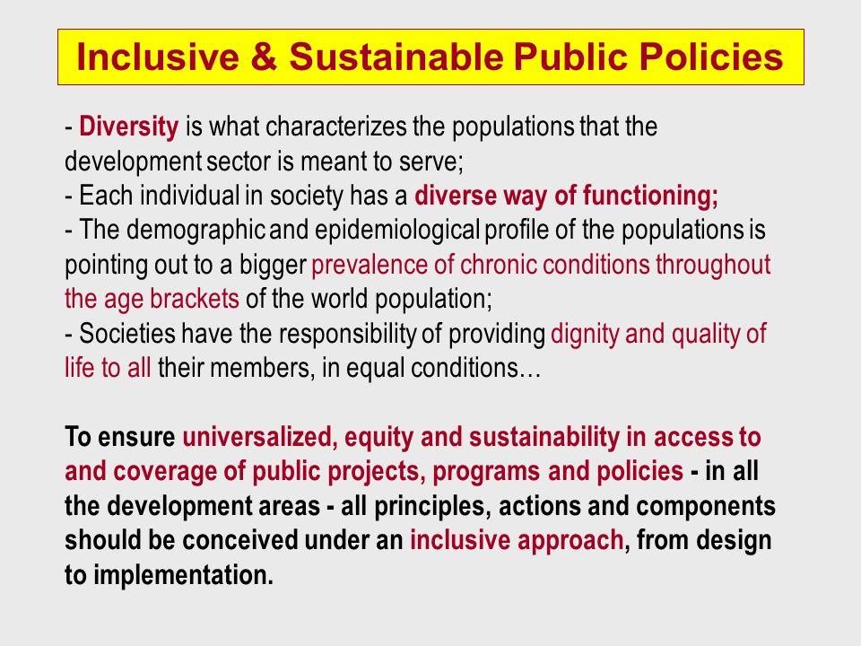 Inclusive & Sustainable Public Policies