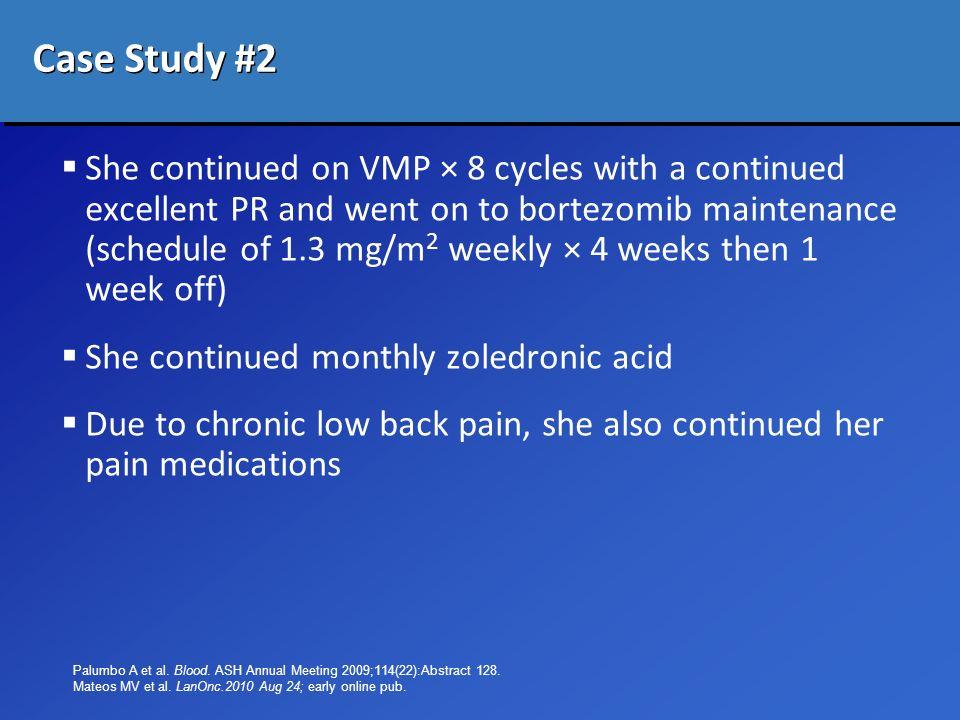 Cancer pain management case study