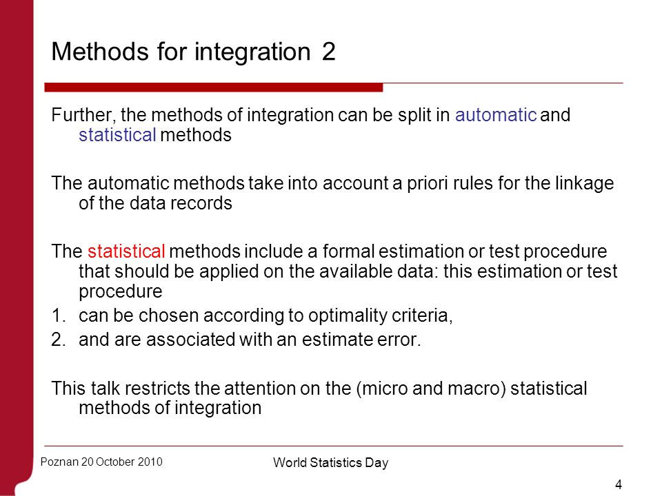Methods for integration 2