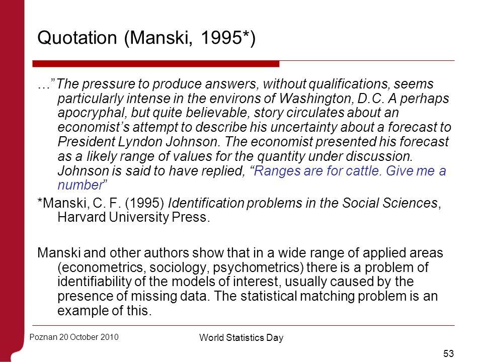 Quotation (Manski, 1995*)