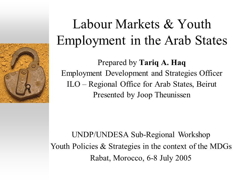 Labour Markets & Youth Employment in the Arab States