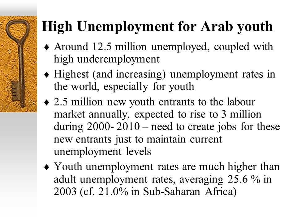 High Unemployment for Arab youth