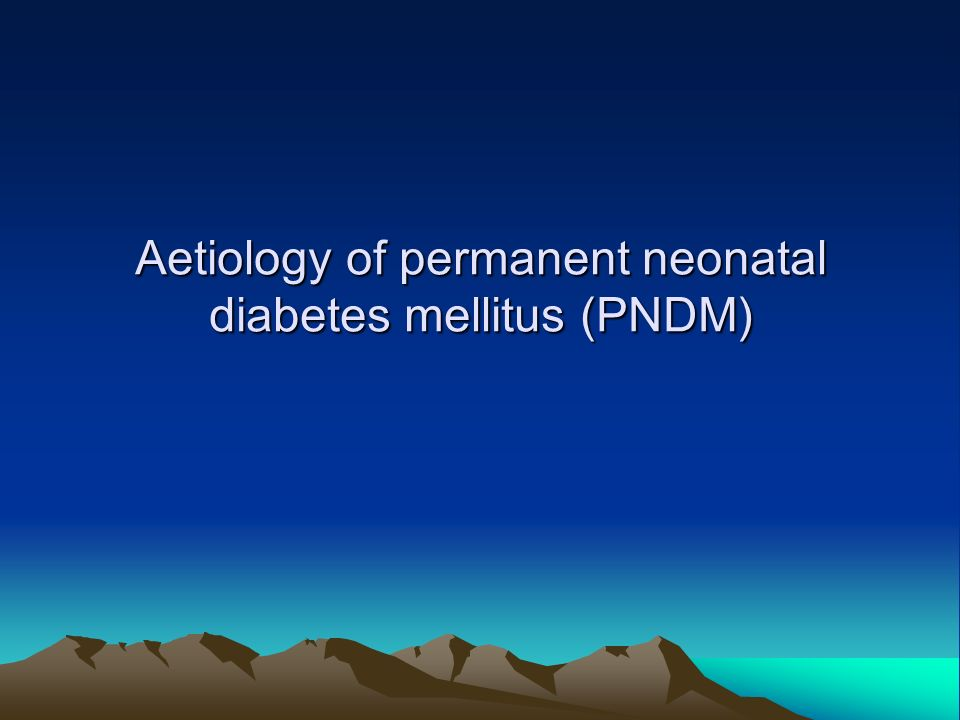 Diabetes Mellitus An Inborn Error of Metabolism ? - ppt