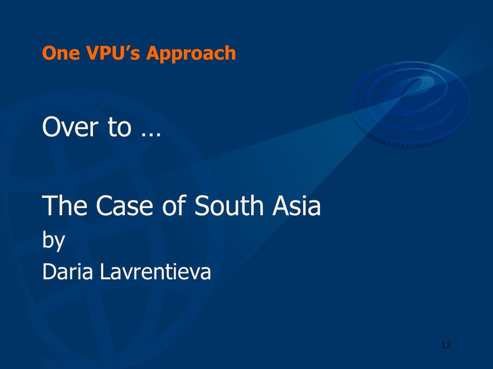 Over to … The Case of South Asia by Daria Lavrentieva