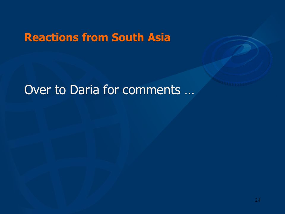 Reactions from South Asia