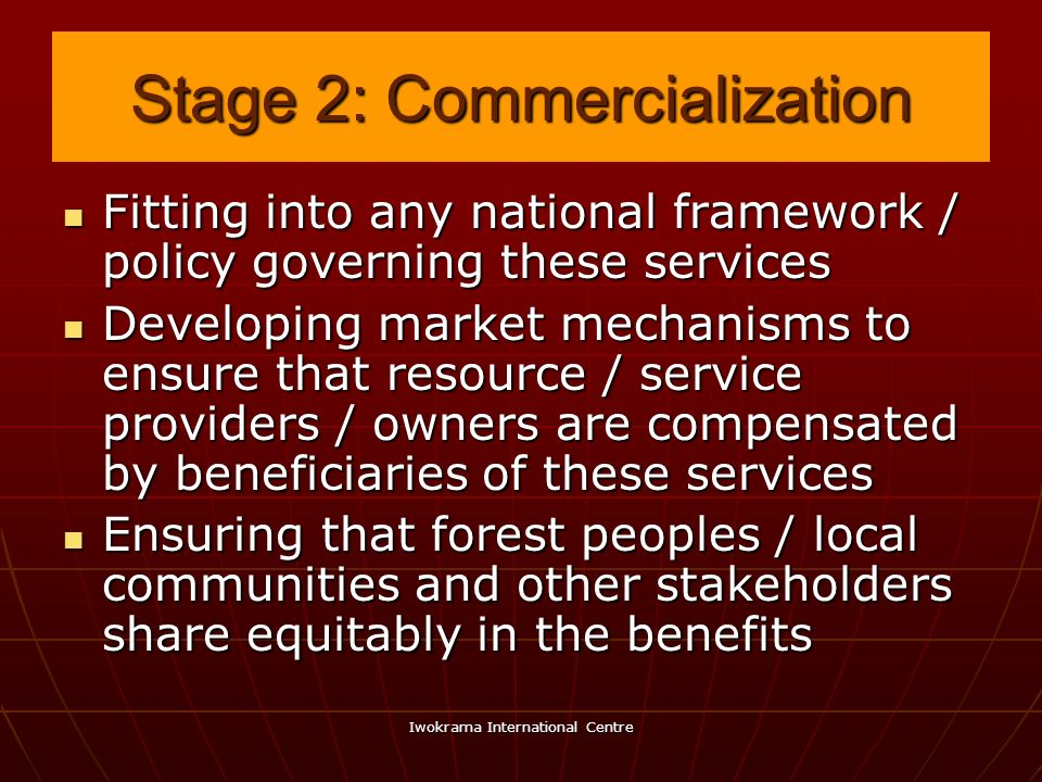 Stage 2: Commercialization