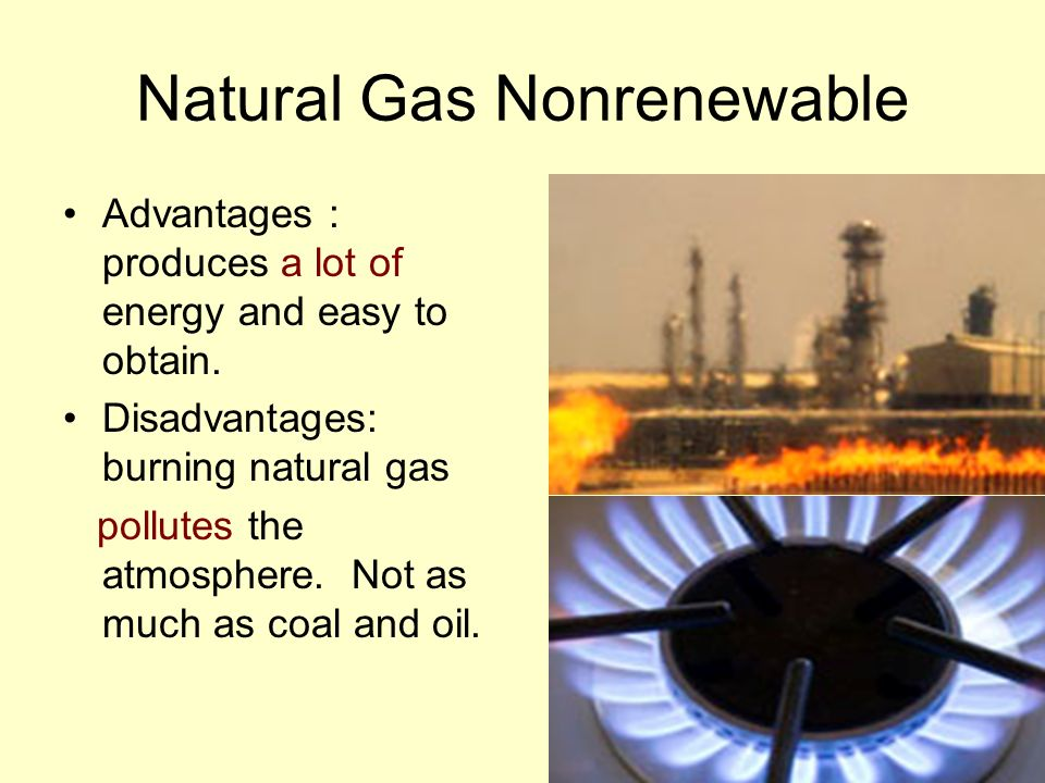 Natural Gas Nonrenewable
