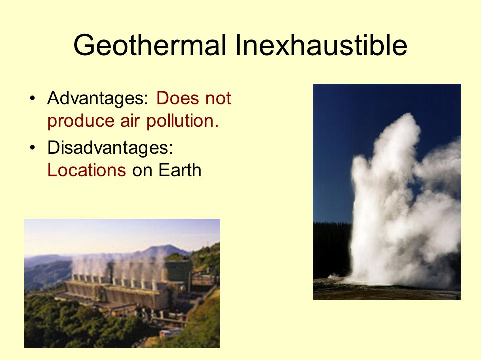 Geothermal Inexhaustible
