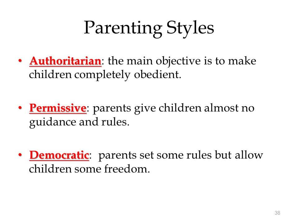 permissive style induction to pmr The advantages and disadvantages of the harsh­heart family can lead to positive outcomes and horrible the harsh family would be the authoritarian style of parenting this style would be the old fashioned style this style believes in the usual strict rules with no question consequences are harsher.