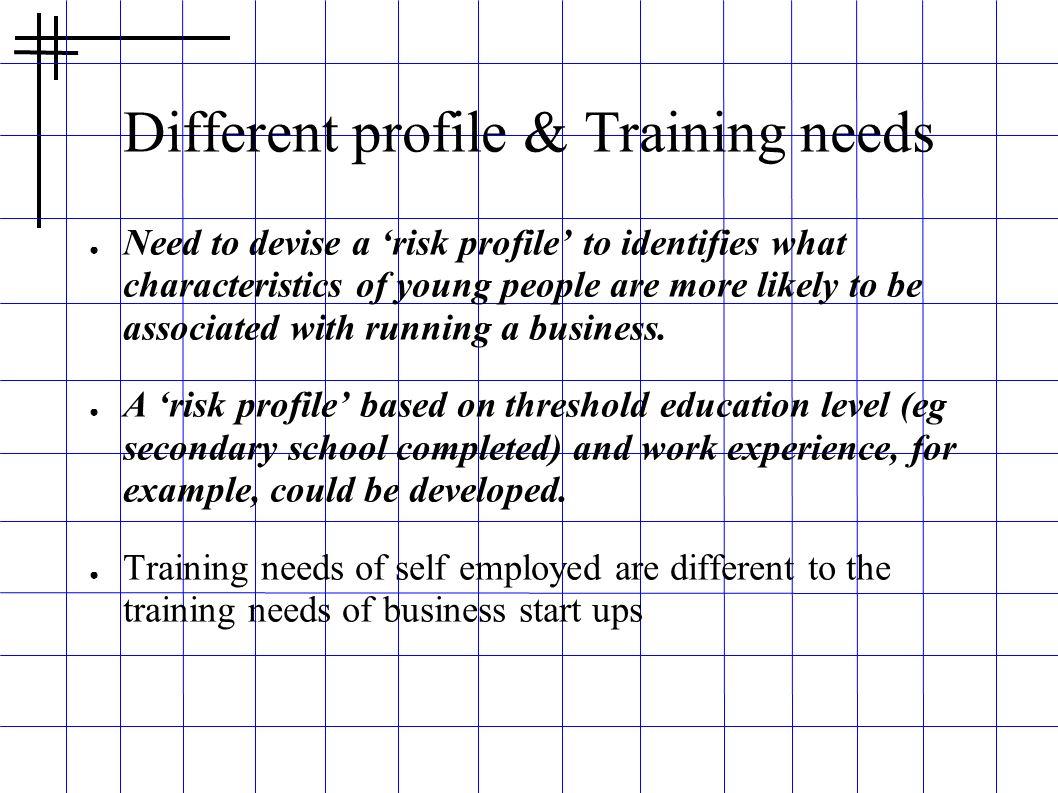 Different profile & Training needs