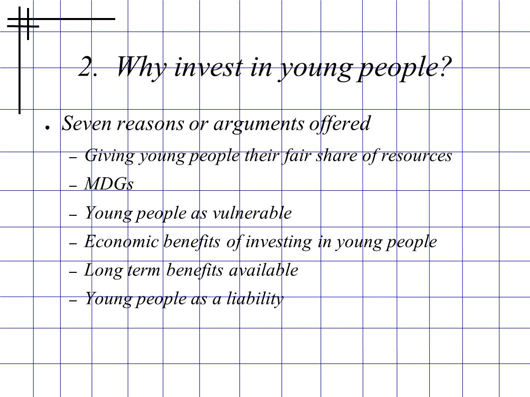 2. Why invest in young people