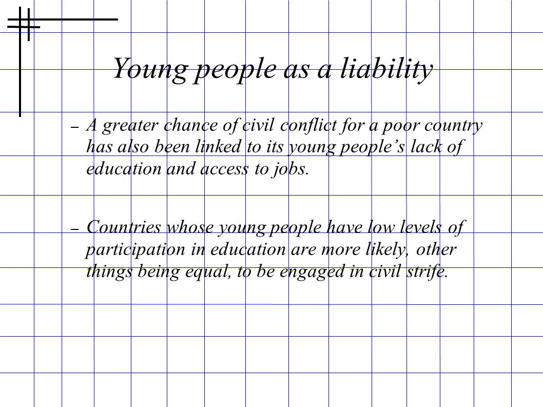 Young people as a liability