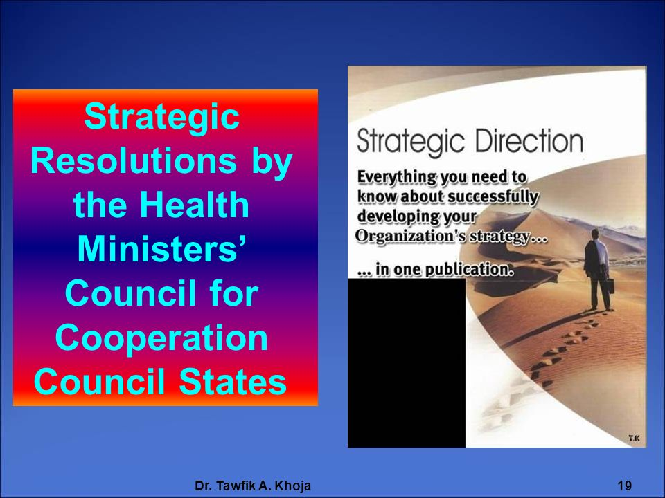 Strategic Resolutions by the Health Ministers' Council for Cooperation