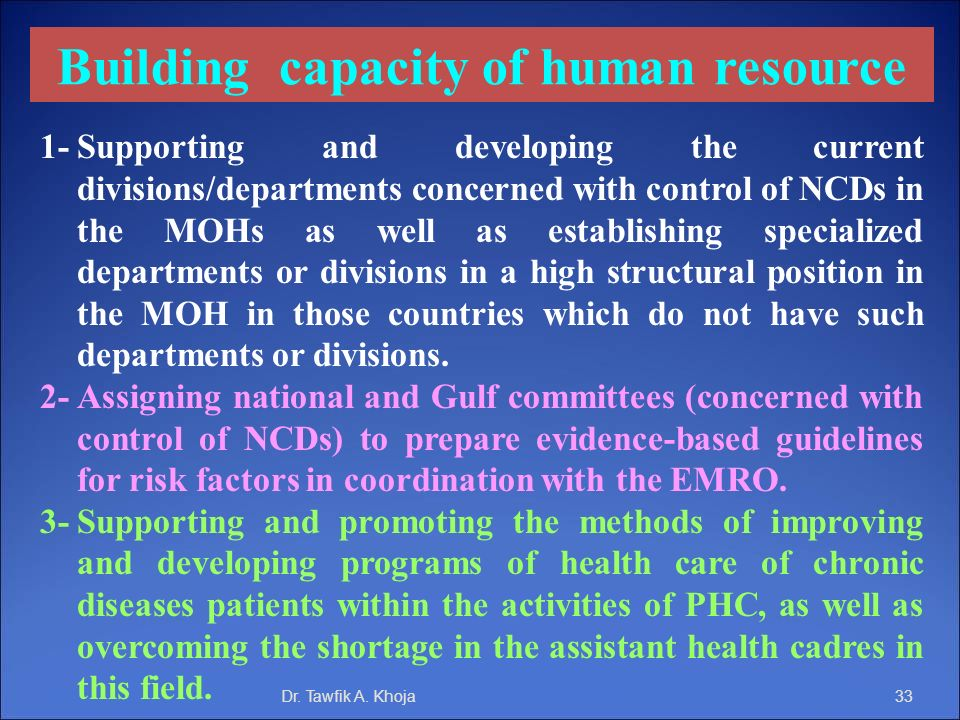 Building capacity of human resource