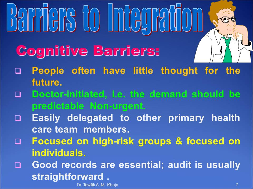 Barriers to Integration