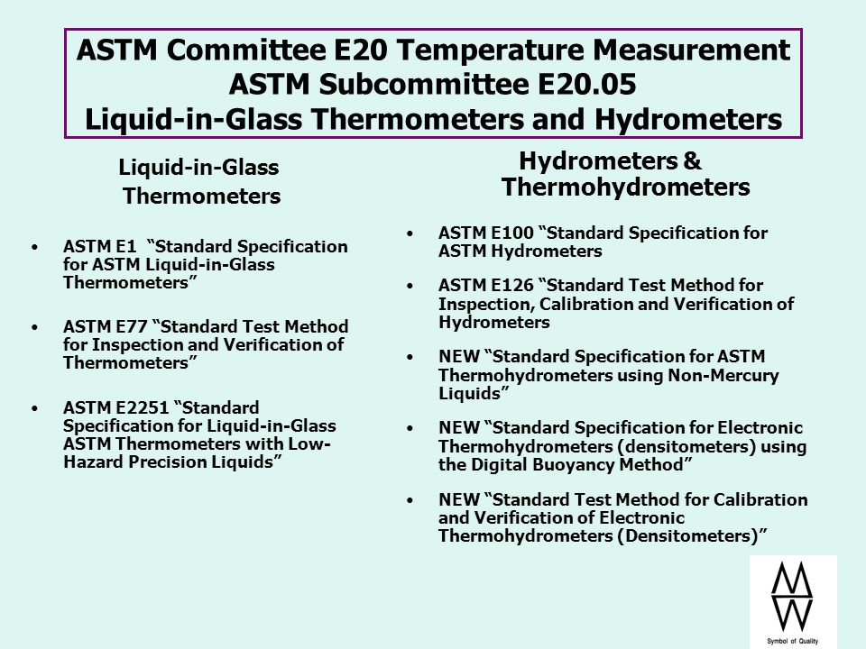 Hydrometers & Thermohydrometers