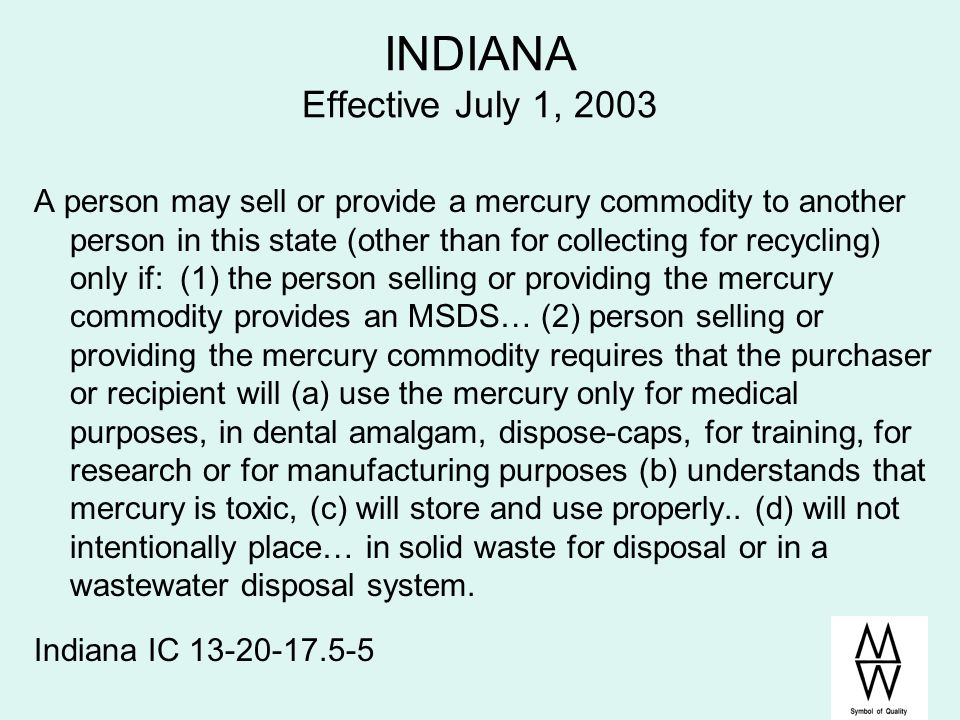 INDIANA Effective July 1, 2003