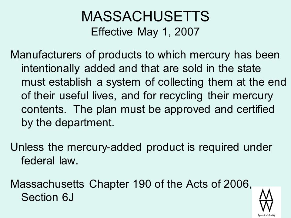 MASSACHUSETTS Effective May 1, 2007
