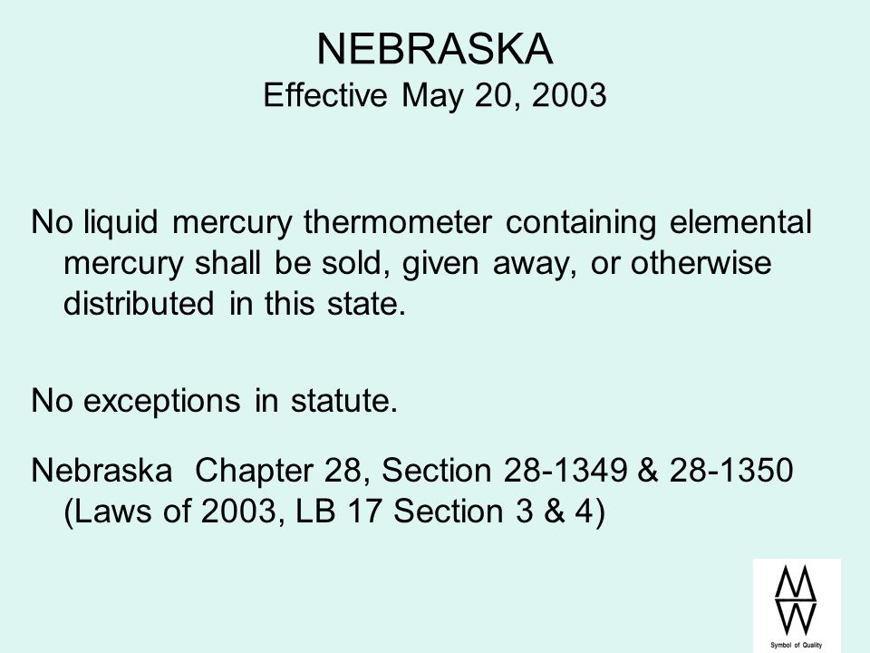 NEBRASKA Effective May 20, 2003