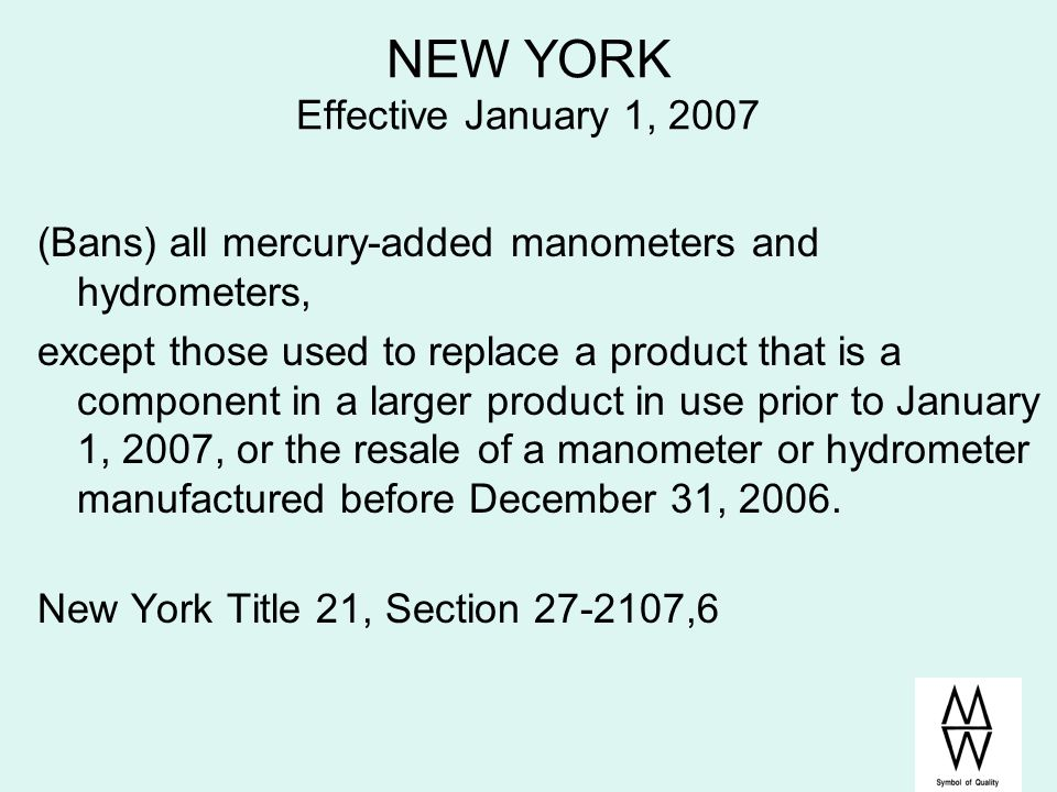 NEW YORK Effective January 1, 2007