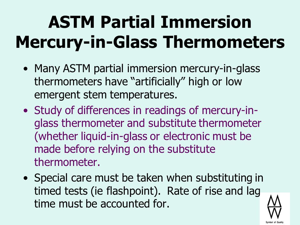 ASTM Partial Immersion Mercury-in-Glass Thermometers