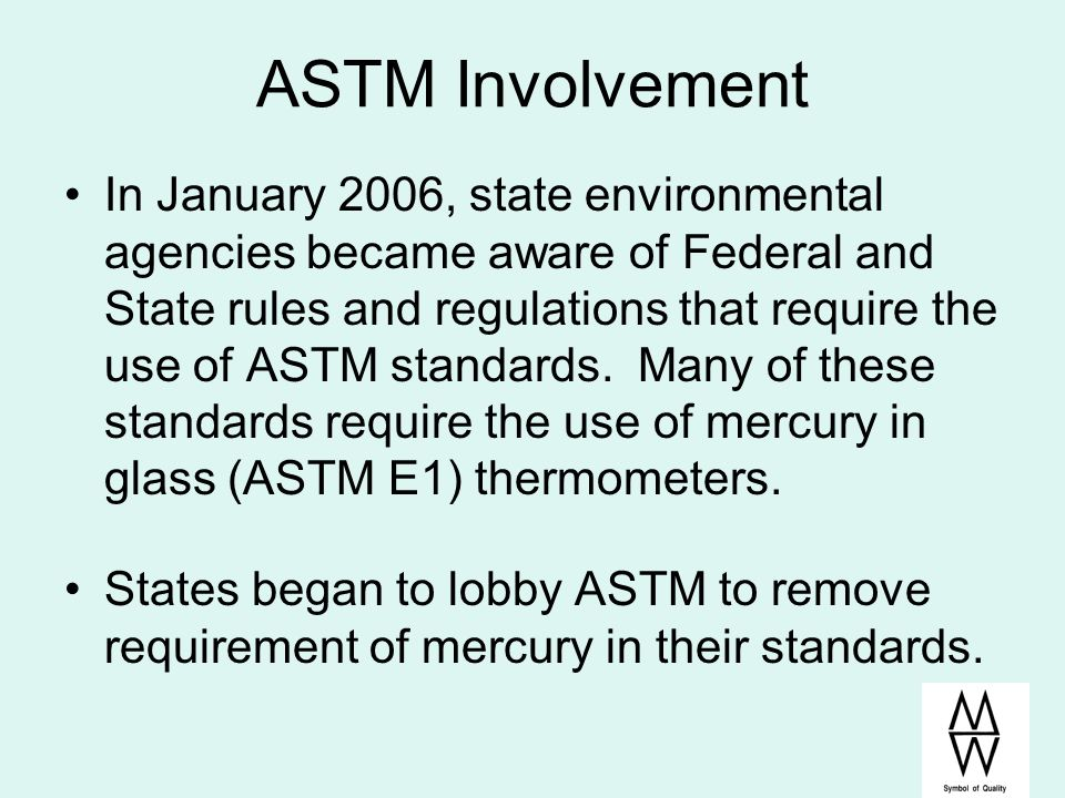 ASTM Involvement