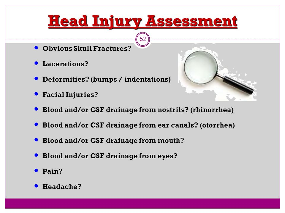 Images of Head Injury Assessment - #rock-cafe