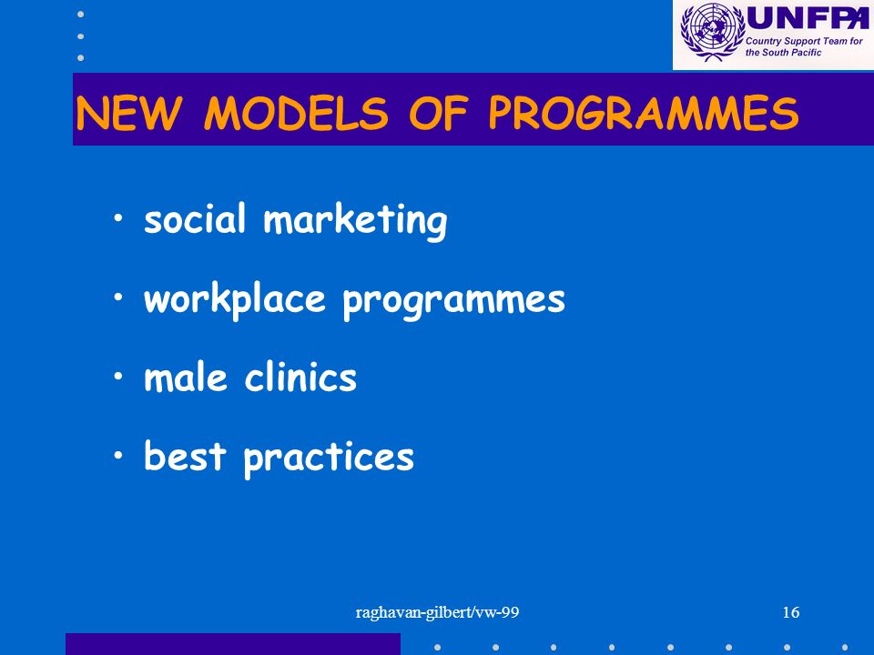 NEW MODELS OF PROGRAMMES