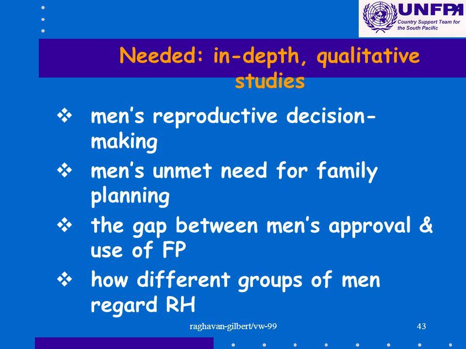 Needed: in-depth, qualitative studies